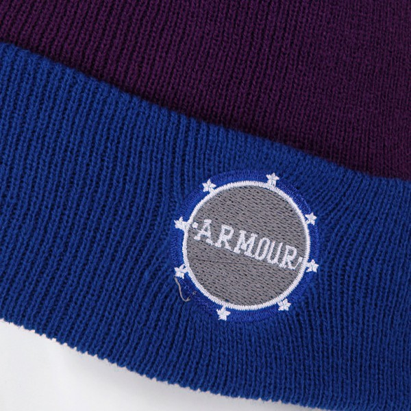Шапка armour Park Beanie Blue Purple, фото номер 3