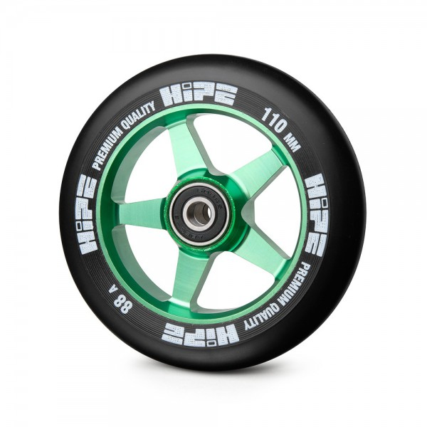Колесо HIPE H09 110mm green/black, фото номер 1
